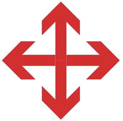 4 point arrow icon
